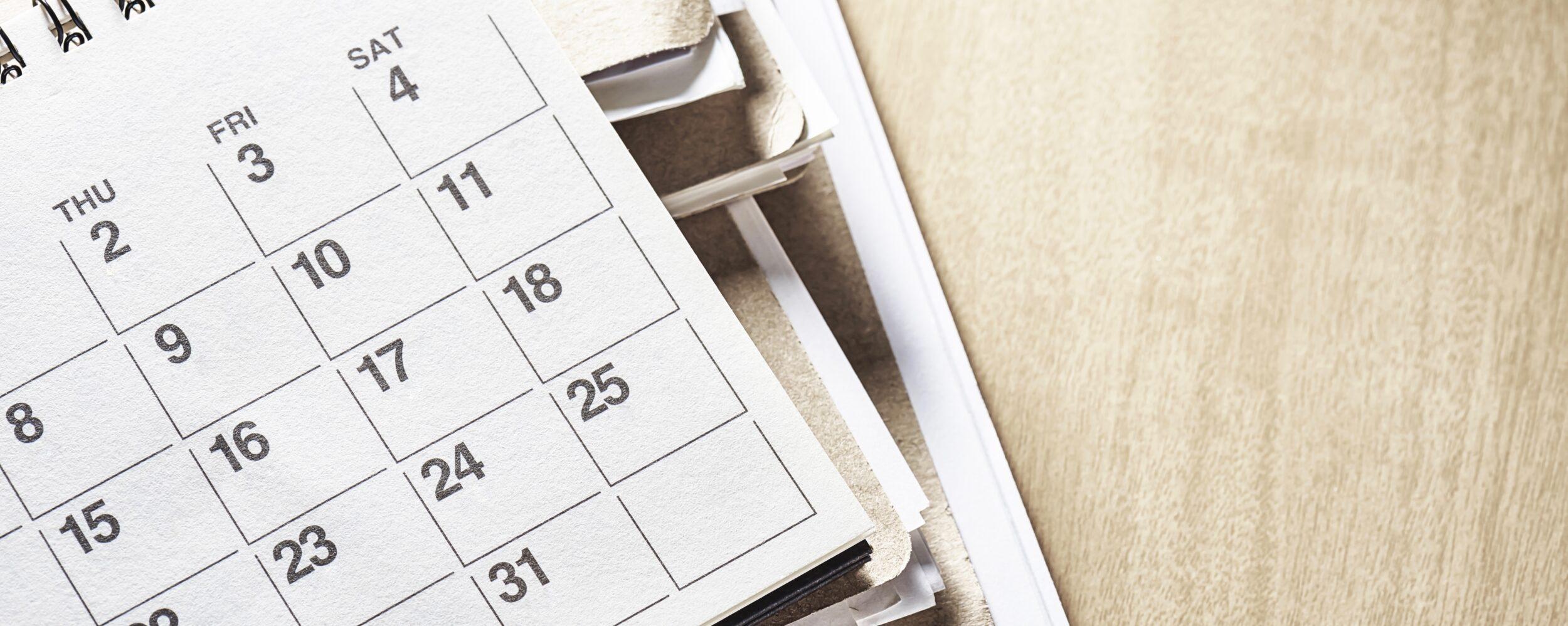 erp implementation calendar